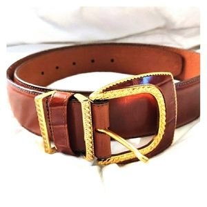 Brighton Faux Alligator Rope Edge Buckle Belt 37 L